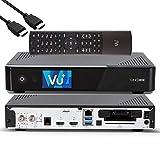 VU+ UNO 4K SE - UHD HDR 1x DVB-S2 FBC Sat Twin Tuner E2 Linux Receiver, TV-Box, YouTube, Satellit Festplattenreceiver, CI + Kartenleser, Media Player, USB 3.0, inkl. EasyMouse HDMI-Kabel