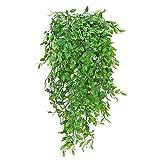 XHXSTORE 3pcs Kunstpflanzen Hängend Künstliche Pflanzen Hängepflanzen Ivy Künstliche Ivy Vine Reben Unechte Pflanze für Topf Wand Außen Innen Balkon Garten Hochzeit Party