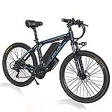 SMLRO E Bike Herren, 1000W Elektrofahrrad 26 Zoll Mountainbike mit Abnehmbare 48V 13Ah Lithium-Ionen-Batterie, Shimano 21-Gang-Getriebe(EU Warehouse),Blue