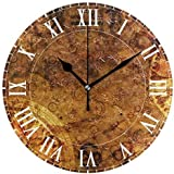 OMAJIG Vinatage Magic Zodiac Round Acrylic Wall Clock, Silent Non Ticking Oil Painting Home Office School Decorative Clock Art