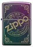 ZIPPO – Zippo Logo, Iridescent – Benzin Sturm-Feuerzeug, nachfüllbar, in hochwertiger Geschenkbox, 60005527, bunt, normal