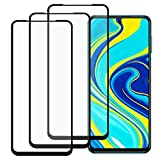 FHgehärtetes Glas kompatibel mit Xiaomi Redmi Note 9 Displayschutzfolie, [3 Stück] [Keine Blasen] [Einfache Installation] Gehärtetes Glas Displayschutzfolie kompatibel mit Xiaomi Redmi Note 9
