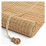 SCRT Plane. Wohnküche Venezianische Jalousien Sonnenfilter Roll-Up-Blind, Bambusvorhang, anpassbare Größe, für Veranda, Pergola, Bambus-Rollertöne, regenbeständig, Lichtfilter Rolljalousien