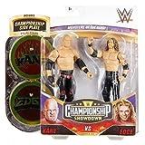 WWE GVJ19 - Action Figuren 2er-Pack (15 cm) Kane vs Edge, Geschenk zum Sammeln für WWE Fans ab 6 Jahren