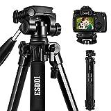ESDDI Kamera Stativ Aluminiumlegierung Stativ Kompakt Leichtes Stativ 170cm/67inches für Smartphone DSLR Canon Nikon Sony Olympus mit Handy Halterung Tragetasche