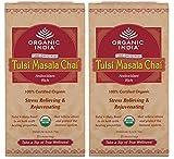 Organics India Tulsi Chai Masala, 25 Tea Bags (Pack of 2)