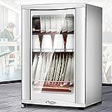 Wärmegeräte 125 □ Hochtemperatur-Desinfektionsschrank, dickes gehärtetes Glas-Desinfektionsschrank, 2,5 kg-Regal-lasthaltiger Küchenschrank, 48L-Großkapazität Vertikal-Haushalts-Desinfektionsschrank,