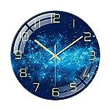 SWECOMZE Rund Wanduhr Modern ohne tickgeräusche - Große Lautlos Wand Uhr 30 cm Ø für Wohnzimmer, Küche, Büro (B)