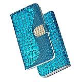 Oihxse Handyhülle Kompatibel für Samsung Galaxy S20 Ultra Glitzer Bling Brieftasche PU Leder Hülle, Schutzhülle Magnetverschluss Weich TPU Kartenfach Standfunktion Flip Wallet Case Cover