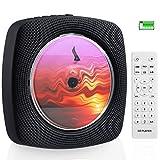 4000mAh Wiederaufladbarer CD Bluetooth Player mit 4 Stunden Spielzeit an der Wand montierbar CD Player Tragbar Eingebaute HiFi Lautsprecher mit Fernbedienung Musikplayer Unterstützung FM R