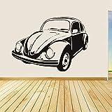 JXAA Vw Käfer Vinyl Wandtattoo Retro Stil Removable Home Decor Wohnzimmer Kunst Wandtattoo Fahrzeug Aufkleber Perfekte Qualität 112x71 cm