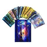 Kristallengel Oracle-Karten, 44Cardscard Deck Tarot-Karten-Set, Tarotkarten und Buch für Anfänger (Englisch) Karten, Tarot-Kartenspiel-Karten