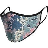 SMMASH Mundschutz Maske Wiederverwendbar, Hochwertiges Gesichtsmaske Waschbar, Multifunktional Trainingsmaske für Radfahren, Laufen, Staubschutzmaske für Damen, Herren (S/M, Blossom)