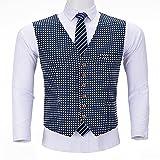 GELTDN Herrenanzüge Slim Fit Wastcoat Prom Tweed Smoking Gemusterte Wolljacke für Hochzeit Groomsmen Weste (Color : A, Size : XXXL Code)