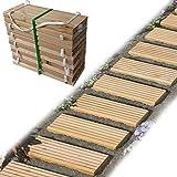 Gartenpirat Rollweg Holz 35x250 cm Gartentritte Holz-Tritte, Holz-Fliesen für den Weg im G