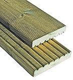 Terrassendielen geriffelt 27 x 145 mm x Länge 30 cm Kiefer imprägniert Dielen B