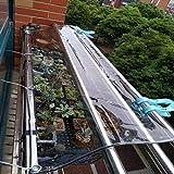 WUDAXIAN Plane Transparent wasserdichte, Faltbare reißfeste und windgeschützte Bootsplane für Deckgärten Pflanzen, Gewächshäuser, Terrassenmöbel