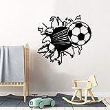 Niedliche Hochgeschwindigkeits-Fußballküche Wandaufkleber Tapete für Wohnzimmer Kinderzimmer Art Decor Tapete Wandaufkleber A4 43x46cm