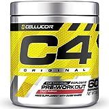 Cellucor C4 Original - Pre-Workout-Booster - Fruchtpunsch | Getränkepulver für Energy Drink | 150 mg Koffein + Beta-Alanin + Kreatin-Monohydrat | 60 Portionen