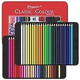 48 Buntstifte mit Metallbox, Lebendige Farbstifte, Malstifte für Professionelle Zeichnen und Farbmischung,Ideales Buntstifte Set für Erwachsene,Kinder,Künstler und Anfänger
