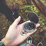 Vintage langlebiger robuster Flip-Open-Kompass, Outdoor-Kompass, Kompakt für Ihre Freunde Kollege, Familienweihnachtsgeschenke Outdoor-Navigationswerkzeuge