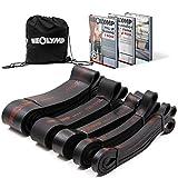 NEOLYMP Premium Pull Up Fitnessbänder | Perfekt für Muskelaufbau und Crossfit Freeletics Calisthenics | Fitnessband Klimmzugbänder Widerstandsbänder (Schwarz 5er Set)