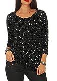 ONLY Damen ONLELCOS 4/5 AOP TOP JRS NOOS Bluse, Black, XXL