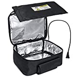 Elektrische Lunchbox Speisenwärmer Warmhaltebox Auto Mittagessen Wärmer und tragbaren Ofen Persönliche Heizung Lunchpaket zum Aufwärmen Mahlzeiten bei der Arbeit ohne Büro Mikrowelle 12V (schwarz)