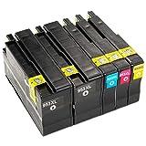 ESMOnline 5 kompatible XL Druckerpatronen (4 Farben) als Ersatz für HP 953 (NEUSTER CHIP) zu HP OfficeJet Pro 8210 8216 8218 8710 8715 8718 8719 8720 8725 8727 8728 8730 8740 7720 7730 7740