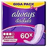 Always Profresh Slipeinlagen Damen Large (60 Einlagen) Giga Pack, Geruchsneutralisierende Technologie, Für Maximalen Schutz Am Tag