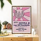JLFDHR Leinwanddruck 60x80cm kein Rahmen Mamma Mia Poster Film Print Pink Silhouette Wandkunst Komödie Musical Bild Dekoration Für Wohnzimmer ModernHome Decor