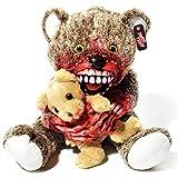 Zombie Teddy Original XXL 50cm Halloween Teddybär Horror-Bär Der Gruselige Kuschelbär für alle Splatter & Horror Fans (Kannibale)