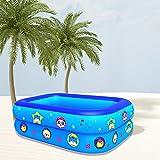 Family Pool Deluxe, Pool Rechteckig Für Kinder Schwimmen Baby Badewanne Aufblasbares Planschbecken Spielen Im Wasser Bodenpool Tintendruck Ungiftig Und Harmlos