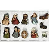 kdjsic 11Pack Geboren in Bethlehem Krippenfiguren Set-Krippen-Sets für Weihnachten Indoor-Manger-Szene Weihnachtsdek
