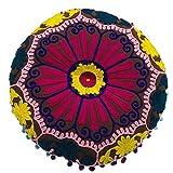 Zeenca Yogamatte, Meditationsrunde Lotusmatte, Waschbarer Bezug aus Baumwolle20.40x8cm