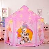 Spielzelt für Kinder, Kinder Spielen Zelt, Kinderspielzelt Mädchen Prinzessin Zelt Innen Draussen Castle Spielzelt Kinder Schloss Zelt - Geburtstag Geschenk für Kinder ( Rosa )