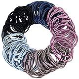 50 Stück Haargummi Zopfgummi Haargummis Damen Zopfgummis Mädchen Zopfband 3 in 1 Haar Gummibänder (5 Farbe)