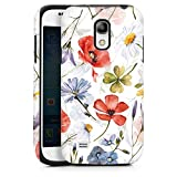 DeinDesign Panzer Handyhülle kompatibel mit Samsung Galaxy S4 Mini robuste Outdoor Hülle Schutzhülle glänzend Blume Muster UtArt