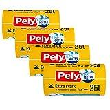 Pely Zugband Müllbeutel extra stark - klimaneutralisiert zertifiziert, Vorteilspack (4 x 17 Stück), gelb, für die Entsorgung (25 Liter)