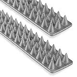 Vogelabwehr Taubenabwehr Katzen Spikes für Zäune & Mauern Grau - 10 Stück