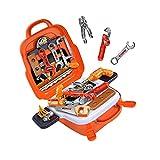 Ukuding 22 Pcs Werkzeugkoffer,Werkzeugkoffer Werkzeug Kinder Spielzeug Werkzeugkasten Handwerker Set Spielwerkzeug Geschenk, 7.87x3,54x9.45 Zoll
