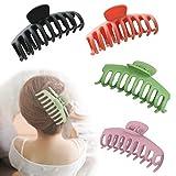 Haarspangen, Klaue Clips, Twist Haarband Clips Bogen Haarnadel, haarspangen mädchen, Unregelmäßige, 4 Stück