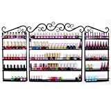 Yaheetech 3 x Nagellackregal Wandregal Nagellack 5-Fächer Regal Metall Organizer Kosmetikorganiser Aromatherapie Aufbewahrung Lippenstiftständer, Schw