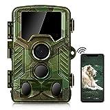 COOLIFE WiFi Bluetooth Wildkamera 4K 32 MP Abzugentfernung Bis 25 m Wildkamera mit Bewegungsmelder Nachtsicht 0,1s Schnelle Trigger 49pcs 850nm IR LEDs Jagdkamera mit 32GB Speicherkarte