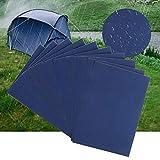 LATTCURE Nylon Reparatur Patches, 10 Stück Selbstklebender Reparatur Aufkleber, Selbstklebender Reparaturflicken für Plane Zelte Rucksäcke Regenjacke Daunenjacken Regenschirm