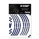 VFLUO GP Design, Motorroller retroreflektierendes Felgenband-Kit (1 Rad), 3M Technology, Band normaler Breite: 7mm, Dunkelblau