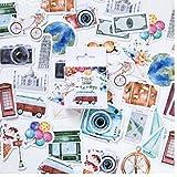 Hotaden 45 Pc-Neue Reise-Aufkleber DIY Retro, Klassischer Reise-Aufkleber Für Scrapbooking Tagebuch-dekor-Aufkleber-protokoll-Auflage-briefpapier
