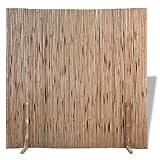 vidaXL Bambuszaun Zaunelement Sichtschutzmatte Raumteiler Bambusmatte Sichtschutzzaun Bambus Zaun Naturzaun Windschutz Sichtschutz 180×170