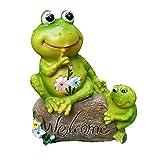 kaikki Frog Garden Willkommen Statuen, Harz Frosch Figur Garten Ornamente Für Den Außenbereich Terrassenteich Rasen Kunst Ornament Dek