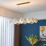 Kristall Kronleuchter Beleuchtung Ringe Pendelleuchte Höhenverstellbare Hängelampe für Esszimmer Küche Flur Deckenlampe G9 Schlafzimmerlampe Wohnzimmerlampe EsstischlampeTreppenbeleuchtung,100CM